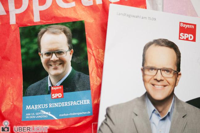 Fotos in der Wahlwerbung - Rinderspacher Bayern-SPD 2013