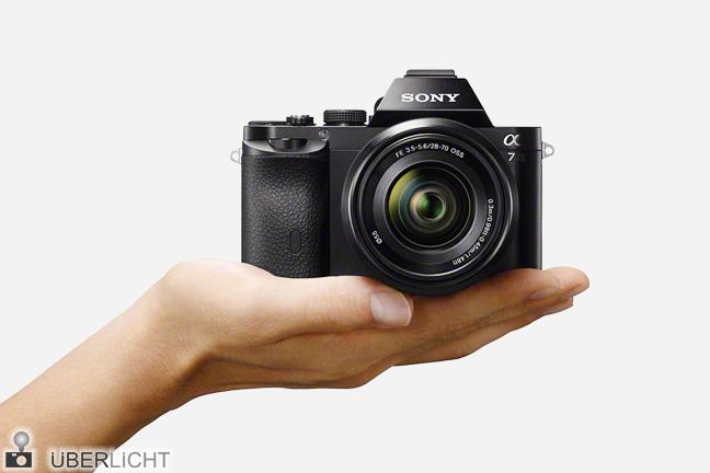 Sony alpha A7 Vollfromat-Systemkamera mit 28-70 mm Objektiv