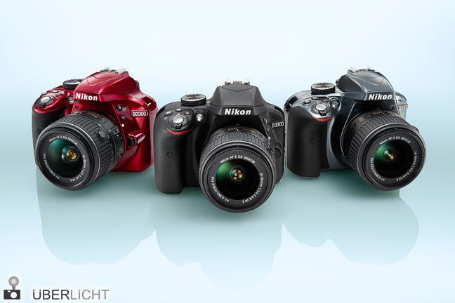 Nikon D3300 Einsteiger-DSLR, DX-Sensor mit 24 MP, in drei Farben