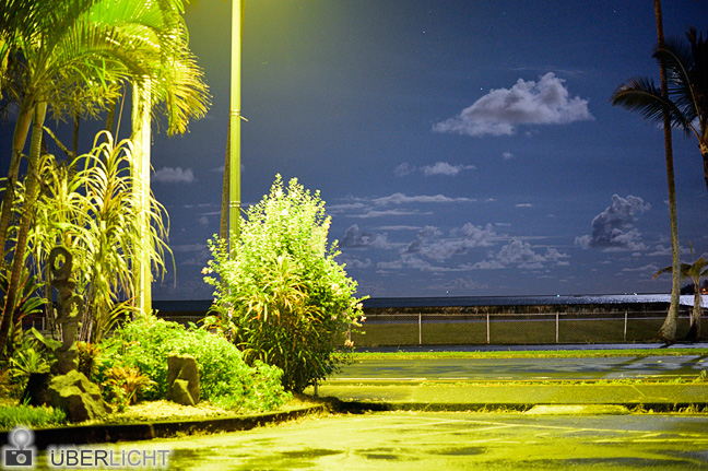 Ufer von Hilo bei Nacht Hawaii