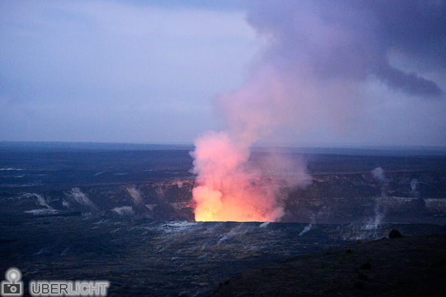 Kilauea Vulkankrater Lava Hawaii Nikon Df 70-200 VR