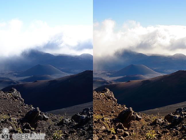 Nikon Df Dynamikumfang NEF Haleakala