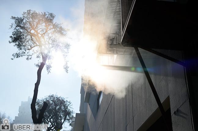 Nikon Df Sonnenstrahlen im Dampf