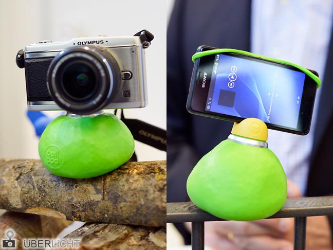 BallPod mit SmartFix als Bohnensackstativ auf der Photokina