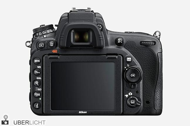 Rückseite der Nikon D750 - © Nikon