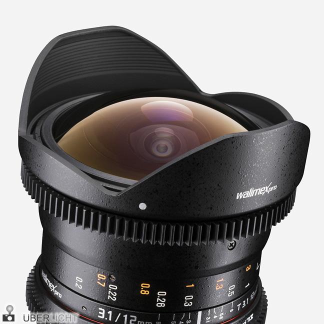 walimex video fishe-eye-objektiv 12 mm 2,8